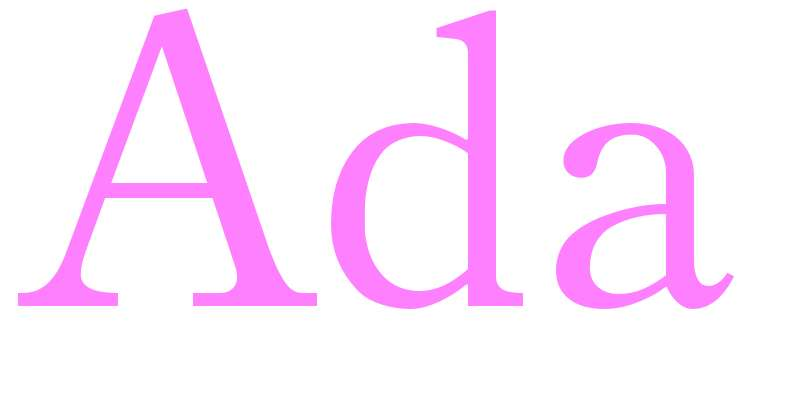 Ada - girls name