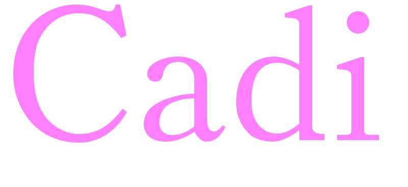 Cadi - girls name