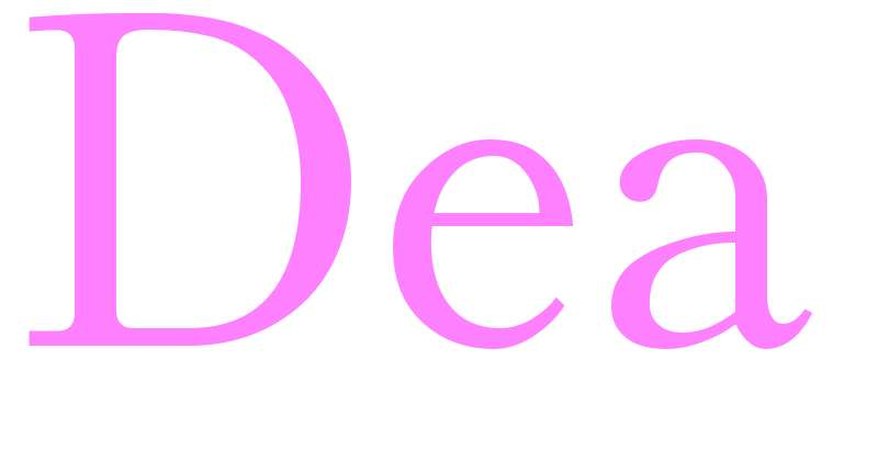 Dea - girls name